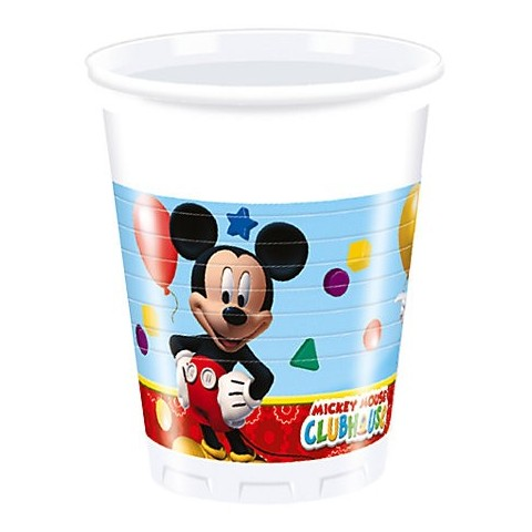 Vasos Mickey Club House 8u.