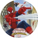 Platos Spiderman 23cm. 8u.