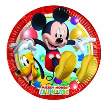 Platos Mickey Club House grande 23cm. 8u.