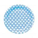 Platos Azules con Lunares 8u.