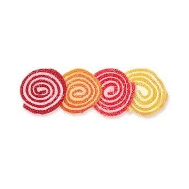 Fruta italiana espirales colores 170 unidades/1'8Kg.