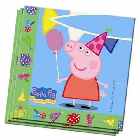 Servilletas Peppa Pig 20u.