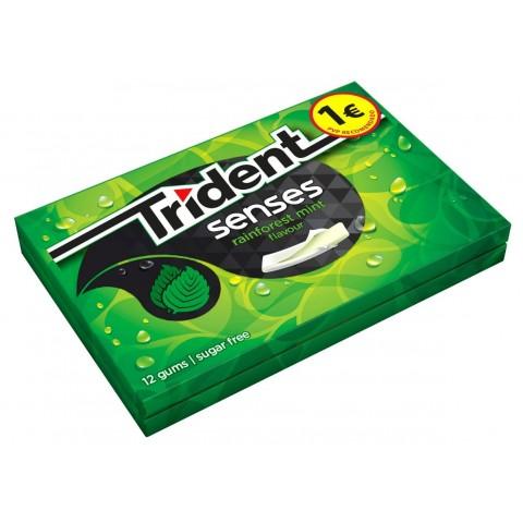 Trident senses gum rainforest mint flavour 12 boxes.