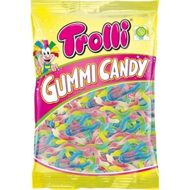 Caramelos de goma Trolli culebras bolsa 1kg.