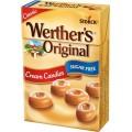 Caramelos Werther's original sabor nata sin azúcar cajitas 12u x 42g.
