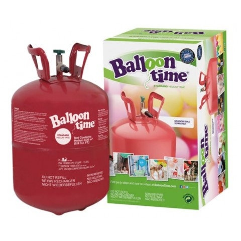 Bombona helio para hinchar globos.