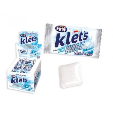 Chicle Klet's white menta suave sin azúcar Fini 200u.