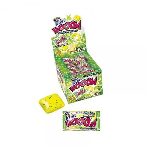 Chicle Klet'S Booom Super Ácido Limon - Manzana Sin Azúcar Fini 200u.