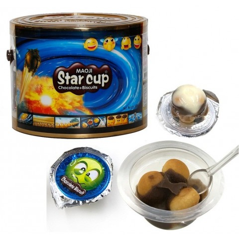 Star Gerio cup terrine with chocolate and biscuit 190u.