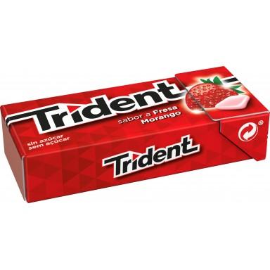 Chicles trident formato gragea sabor fresa 24u.