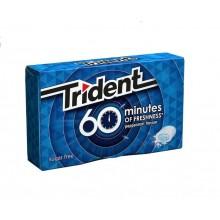 Chicles trident 60 minutos sabor menta 16u.