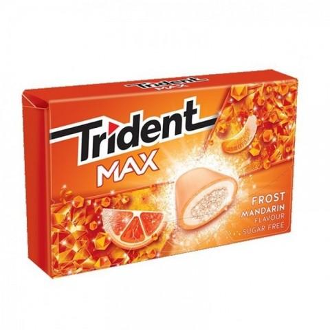 Chicles trident max sabor mandarina 16u.