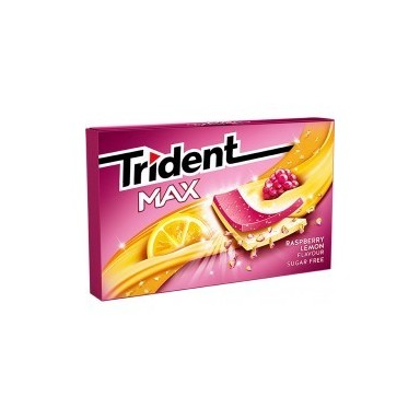 Chicles trident max formato láminas sabor Frambuesa-Limón 12u.