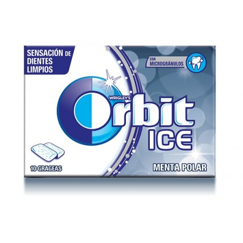 Chicles Orbit Ice Menta polar 12u.