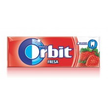 Chicles Orbit Fresa formato gragea.