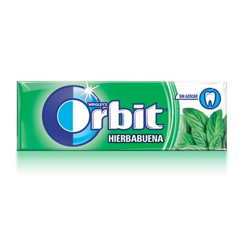 Chicles Orbit Hierbabuena formato gragea.
