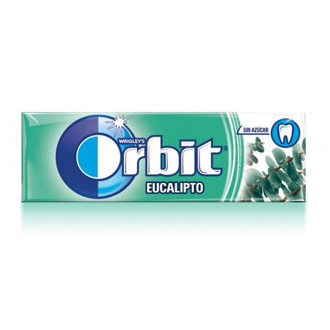 Chicles Orbit Eucalipto formato gragea.