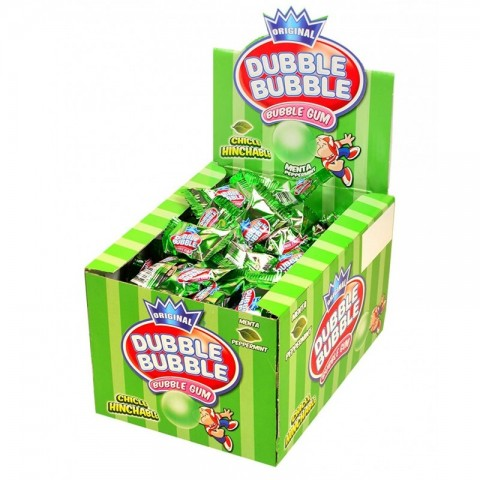 Chicles Dubble Bubble sabor menta sin gluten 150 unidades.