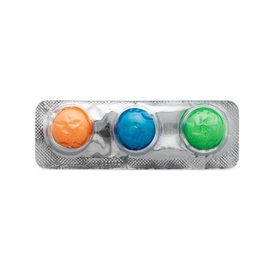Chicles cannon ball Intervan 135 blister de 3 chicles.