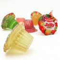 Gelatina tarrinas sabores surtidos de frutas bote 150u.