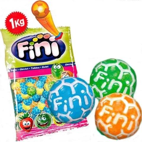 Chicles Rellenos Balones de Fútbol Fini 1kg.