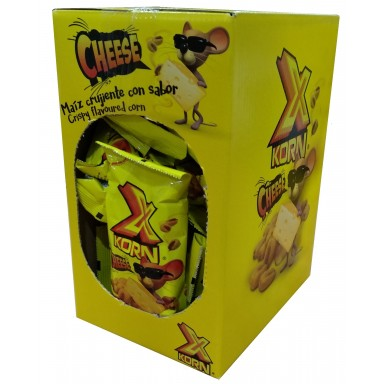 X Korn Queso Jr kikos maiz estuche con 24 bolsitas de 35gr.