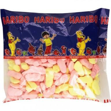 Caramelos de goma haribo pisotones 250u.