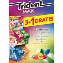 Lote Trident Max 3+1 De Regalo