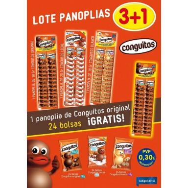 Lote Conguitos Panoplias 3+1