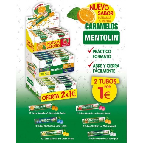 Lote Mentolin Expositor