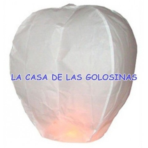 Globo de papel sky lantern blanco 200u.