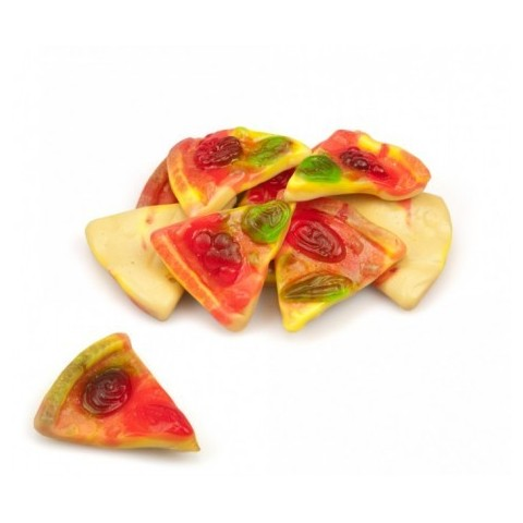 Caramelos de goma Ceconsa Pizzas porción bolsa 250 unidades.