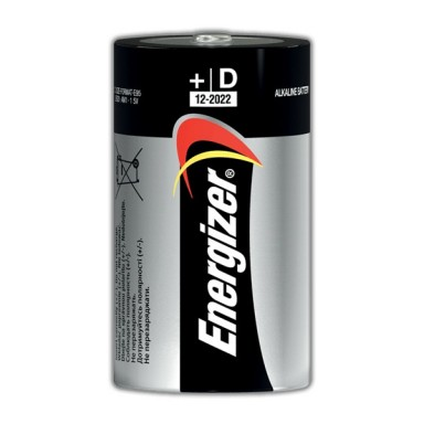 Pilas Energizer LR20 D 2u. 1,5V.