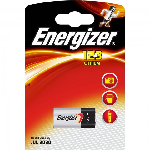 Pilas Energizer Photo Litio 123 3V. 1u.
