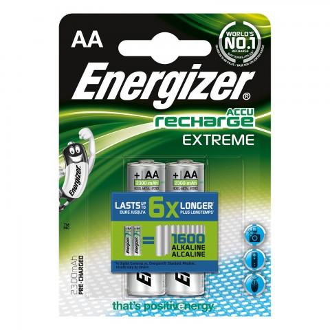 Pilas Energizer Recargables AA 2u.