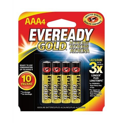 Pilas Eveready AAA GOLD LR03 4u. 1,5V.