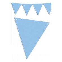 Banderín Triangular Azul 5m.