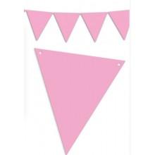 Banderín Triangular Rosa 5m.