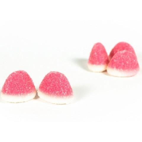 Caramelos de goma Burmar Besos fresa nata bolsa 250 unidades.