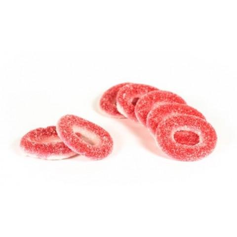 Caramelos de goma Ceconsa Aros fresa pica bolsa 250 unidades.