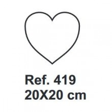 Corcho Corazon 20cm