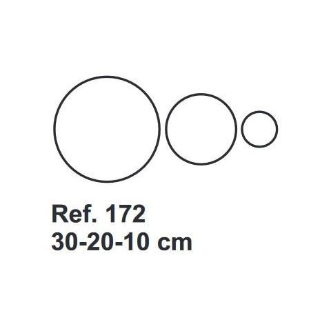 Set de Corcho Circulos 30-20-10cm