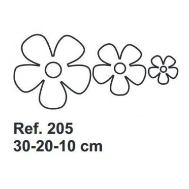 Set de Corcho Flores 30-20-10cm