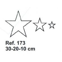 Set de Corcho Estrellas 30-20-10cm