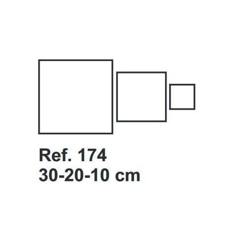 Set de Corcho Cuadrado 30-20-10cm