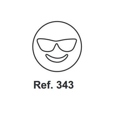 Corcho Figura Emoji con gafas