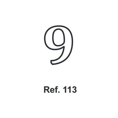 Corcho Número 9 10cm.
