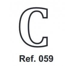 Corcho Letra C 10cm.