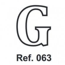 Corcho Letra G 10cm.