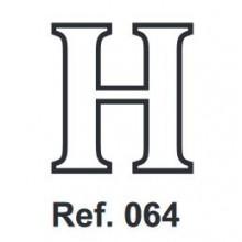 Corcho Letra H 10cm.